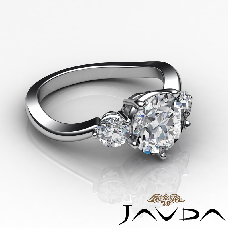 Three Stone Round Diamond Exquisite Engagement Ring Gia G. Tolkowsky Engagement Rings. Anita Goodesign Wedding Rings. $30000 Wedding Rings. Leopard Rings. Modern Fashion Wedding Rings. Carved Engagement Rings. Dianna Engagement Rings. Nerdy Wedding Rings