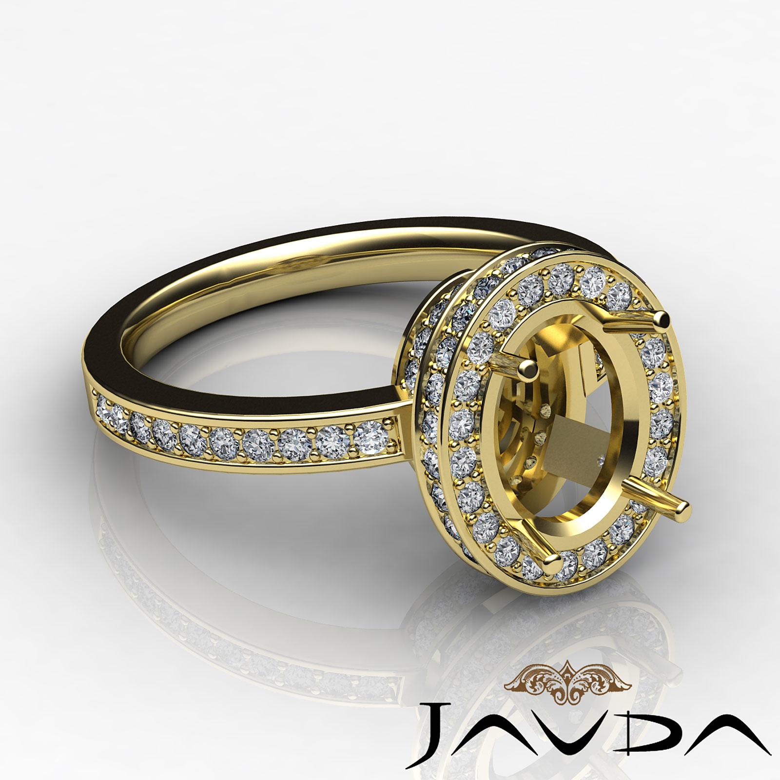 diamond anniversary ring oval shape semi mount 18k yellow. Black Bedroom Furniture Sets. Home Design Ideas