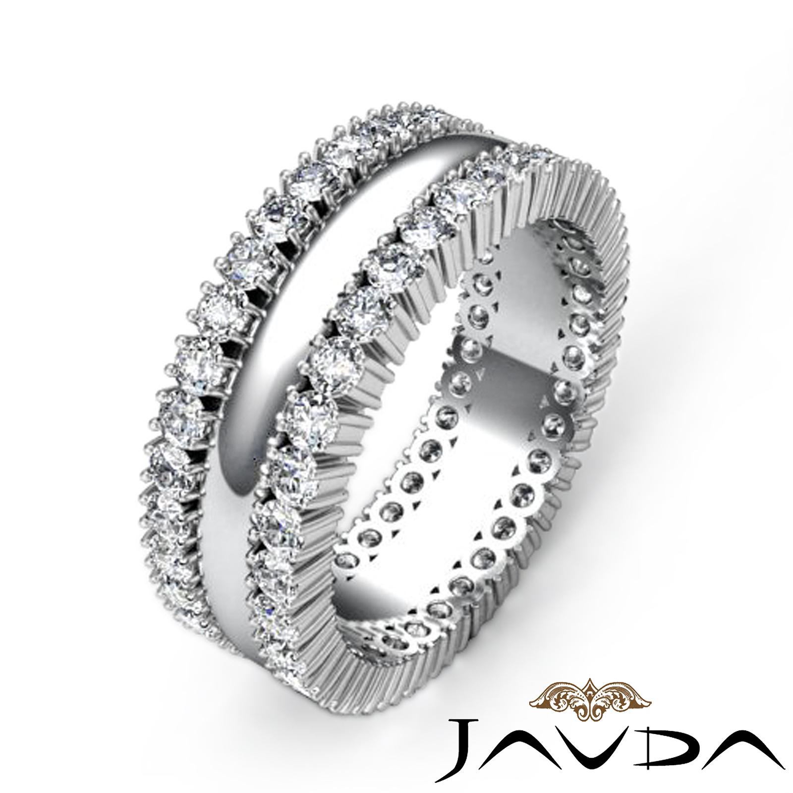 8mm mens wedding solid band prong diamond eternity ring for Mens eternity wedding band
