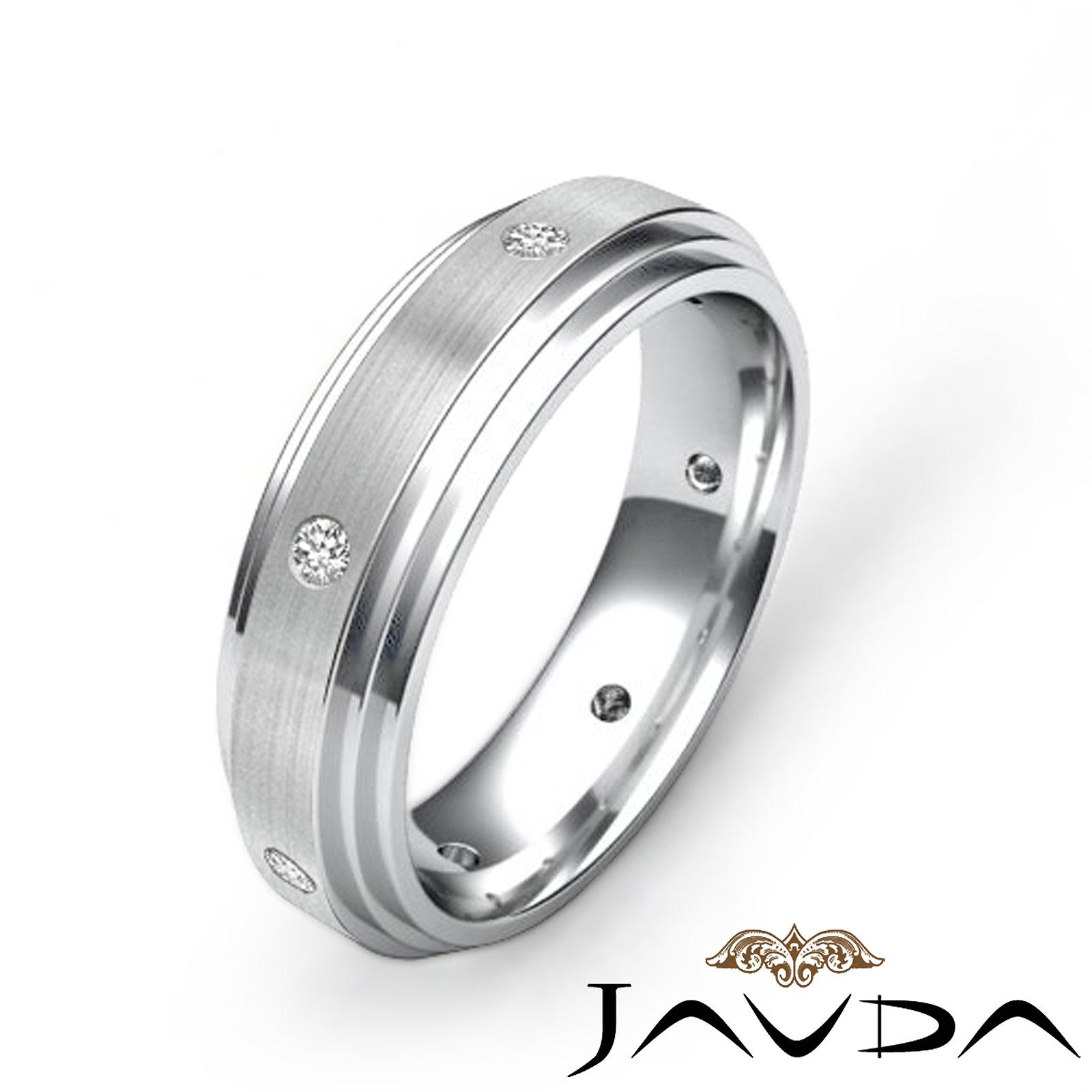 Step edges mens eternity wedding band diamond solid ring for Mens eternity wedding band