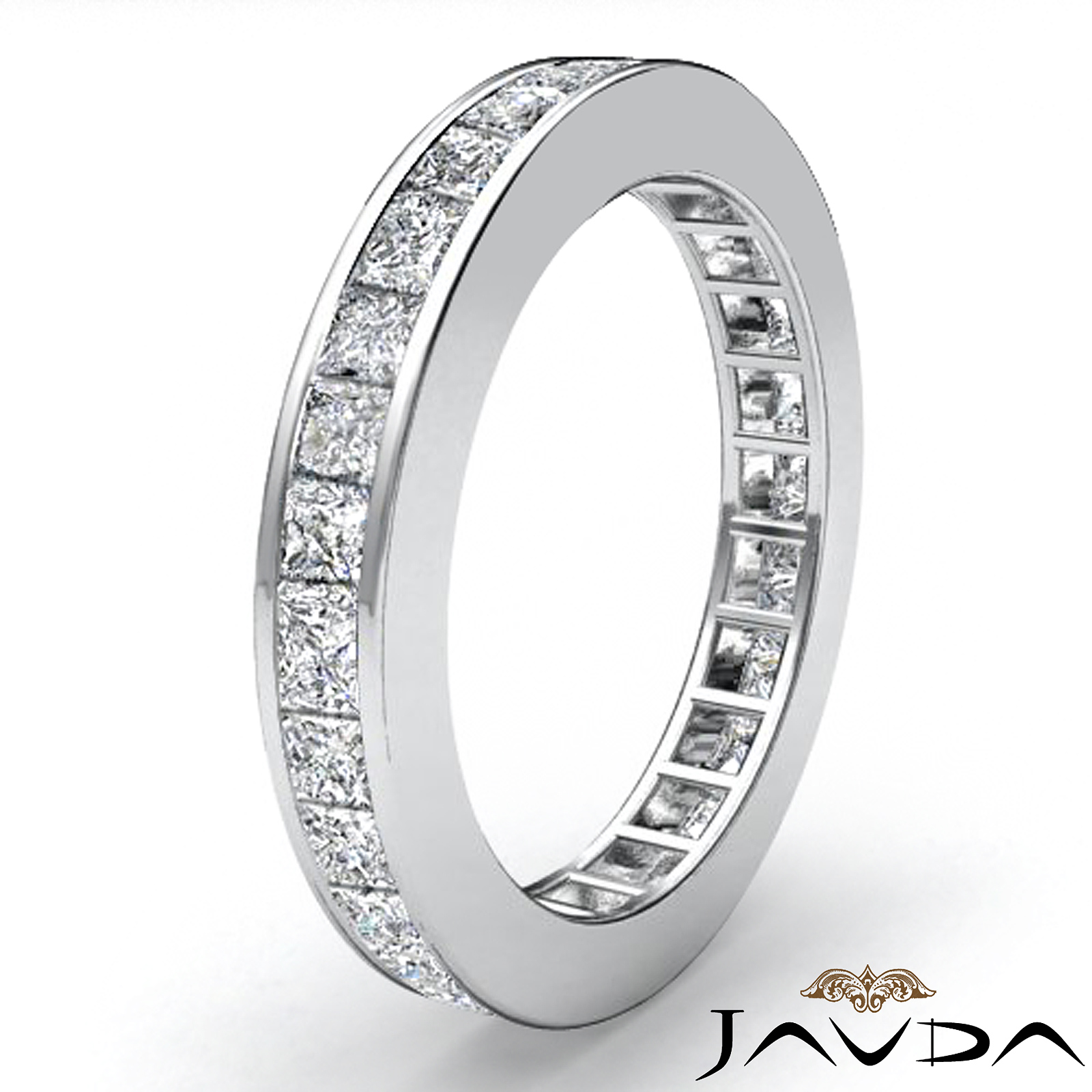only pave princess band pav tsavorite bands green eternity jackson hole karat jewelry products company
