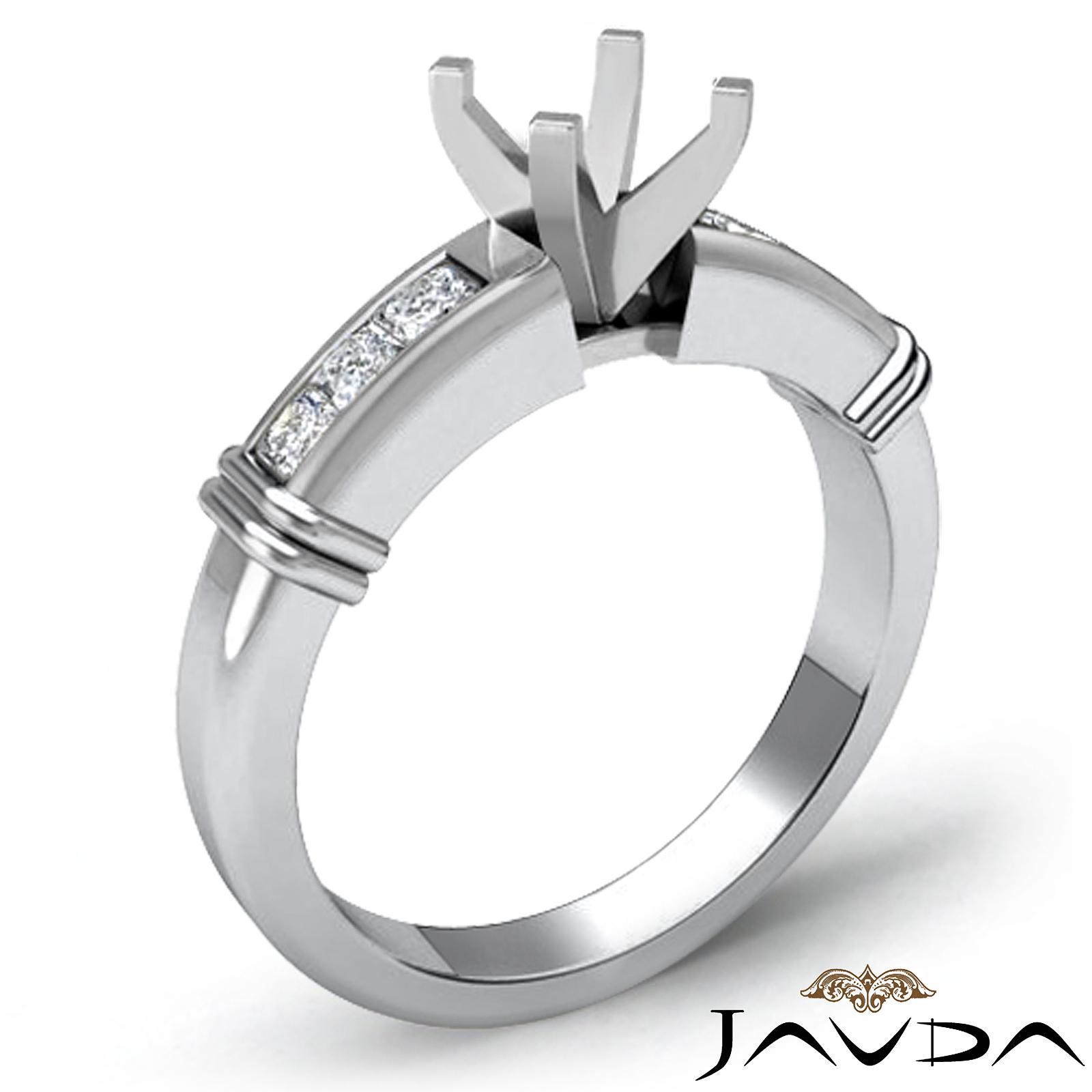 engagement channel setting ring semi mount
