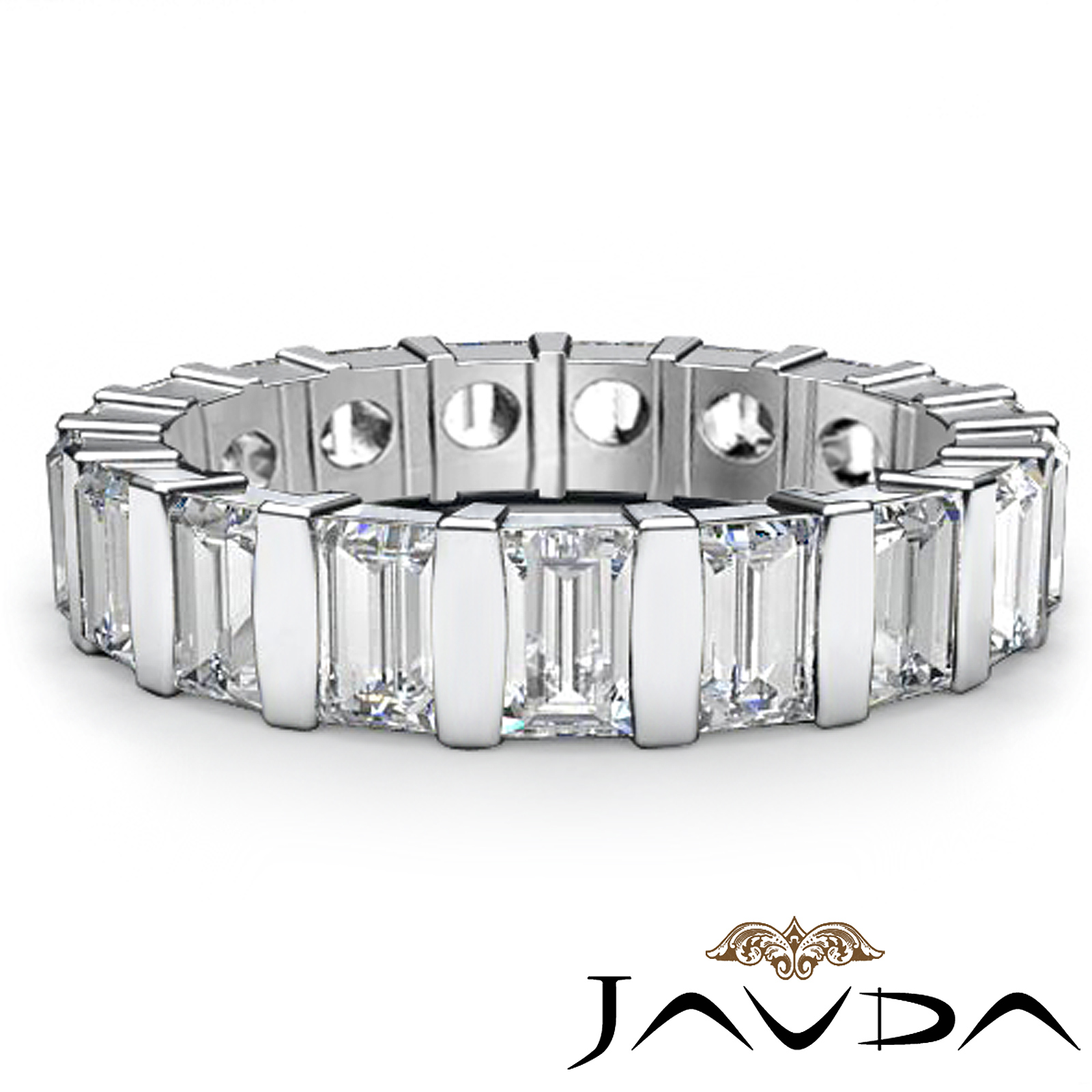 Women S Wedding Eternity Band Baguette Bar Set Diamond