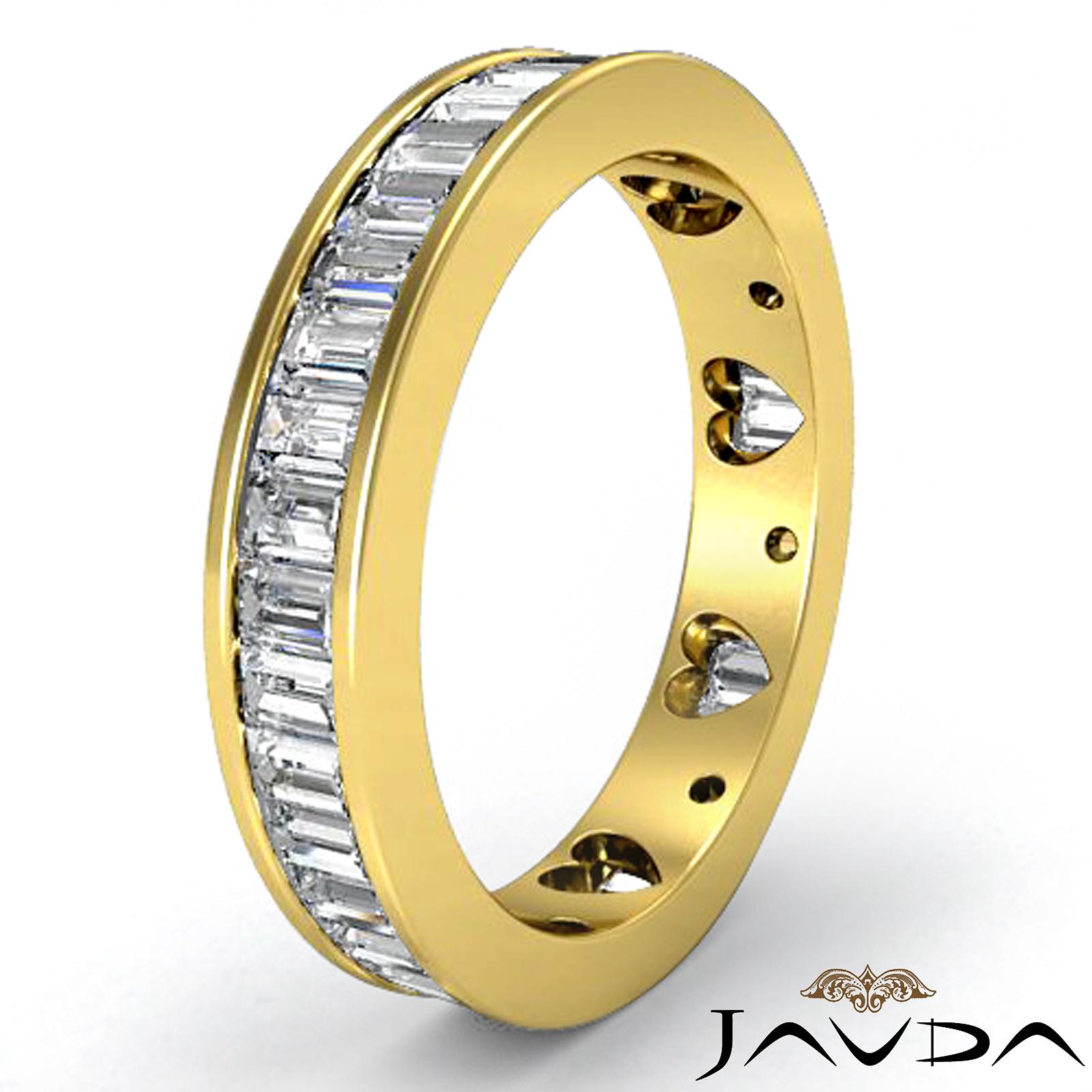 baguette diamond women 39 s wedding ring heart eternity band. Black Bedroom Furniture Sets. Home Design Ideas