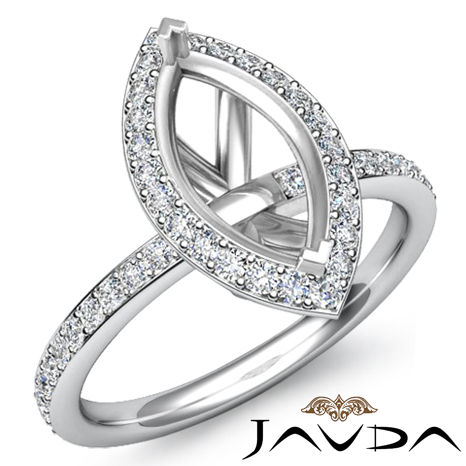 diamond engagement marquise shape ring platinum 950 halo. Black Bedroom Furniture Sets. Home Design Ideas
