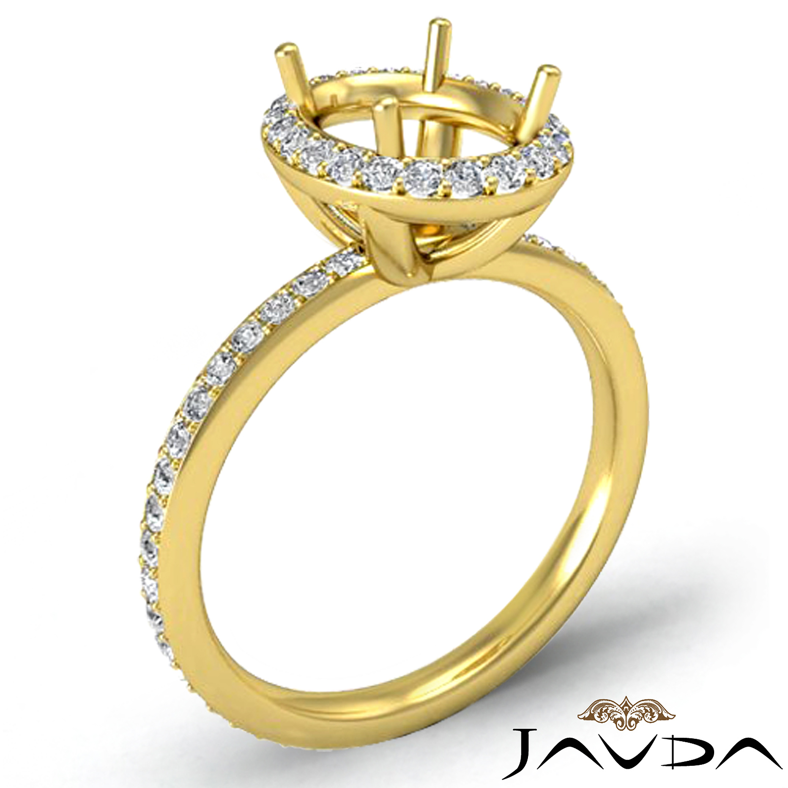 vintage engagement ring 18k gold yellow oval semi
