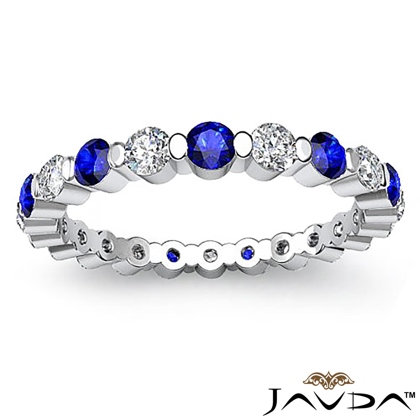 classic sapphire gemstone eternity wedding band ring
