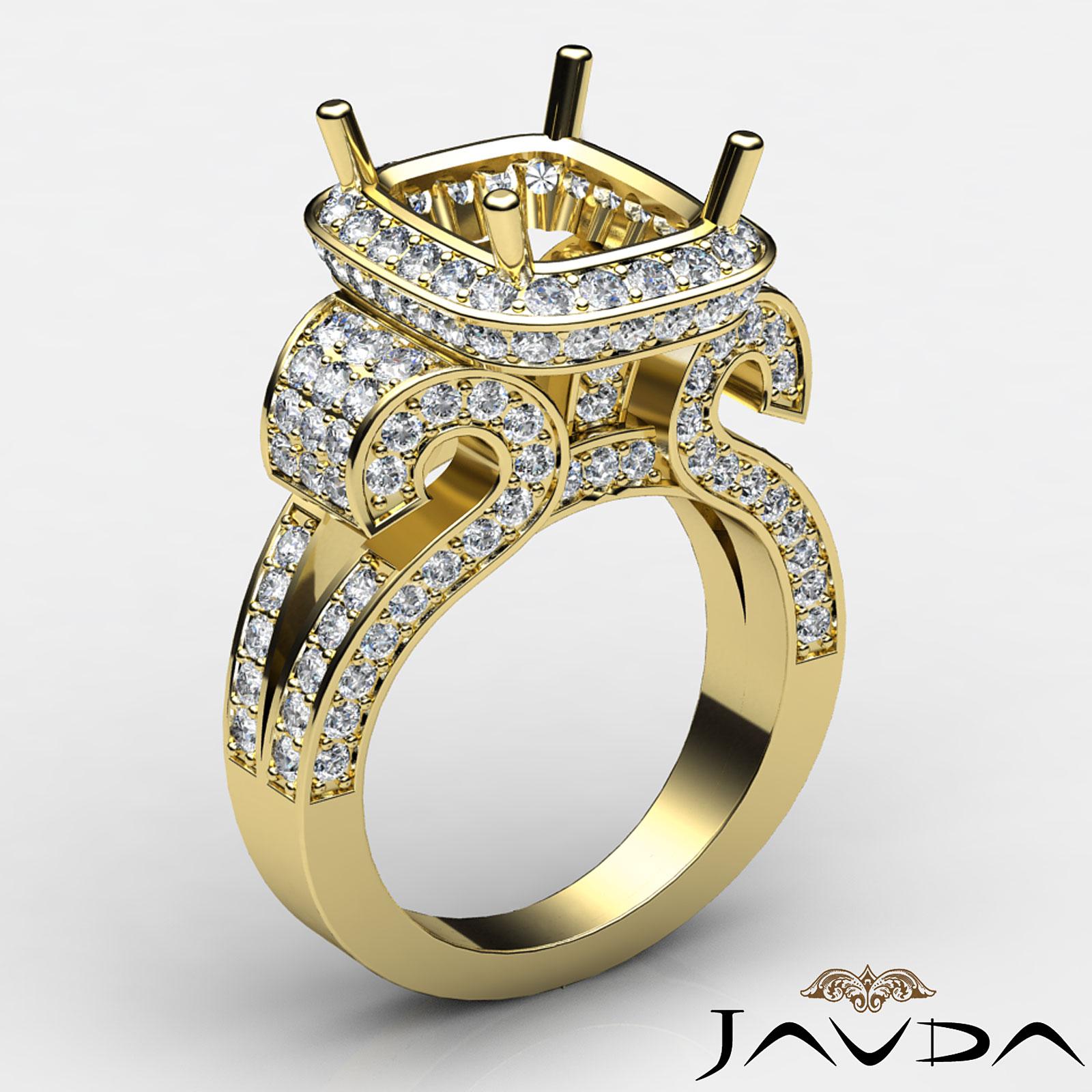 radiant diamond fine antique anniversary semi mount ring. Black Bedroom Furniture Sets. Home Design Ideas