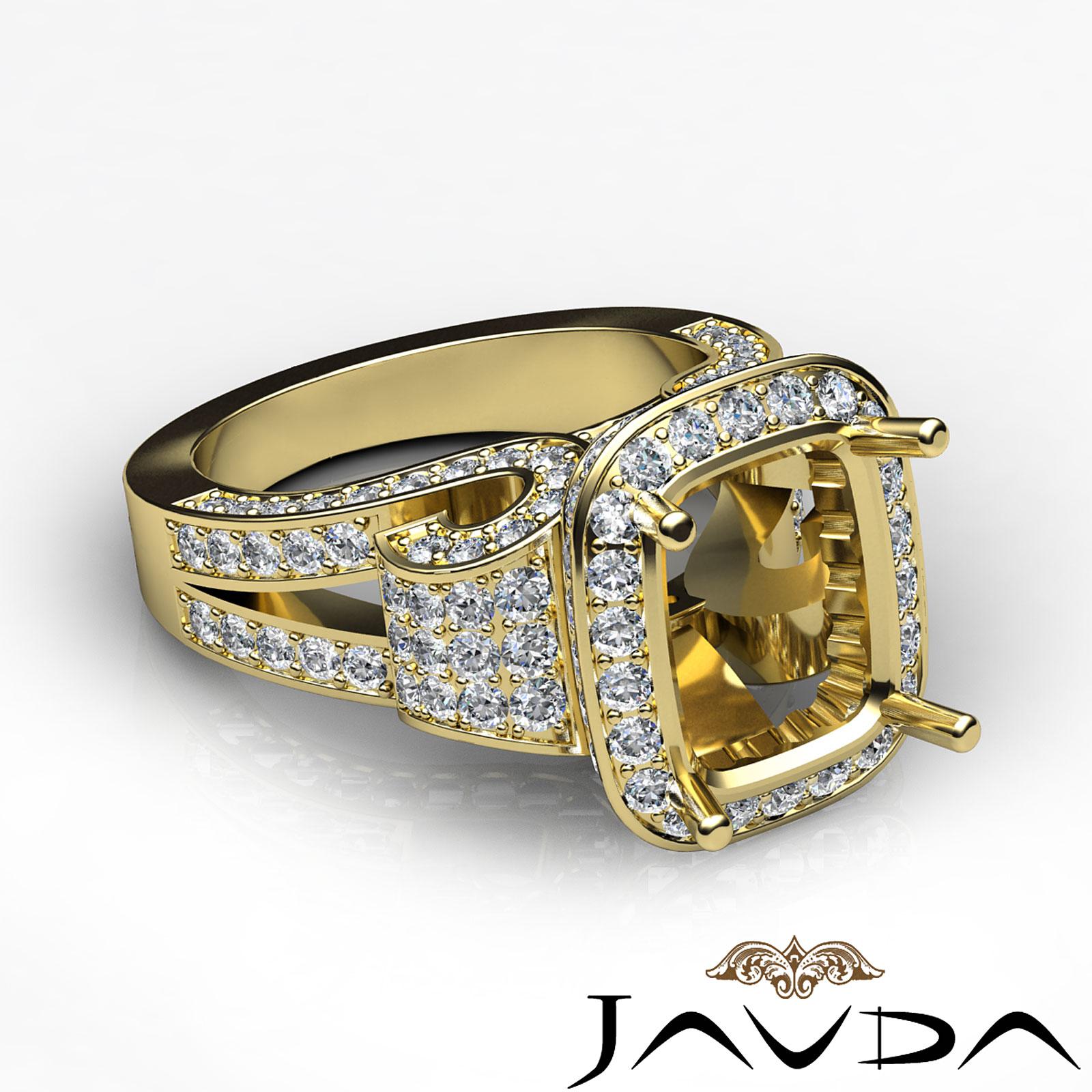 radiant antique anniversary semi mount ring