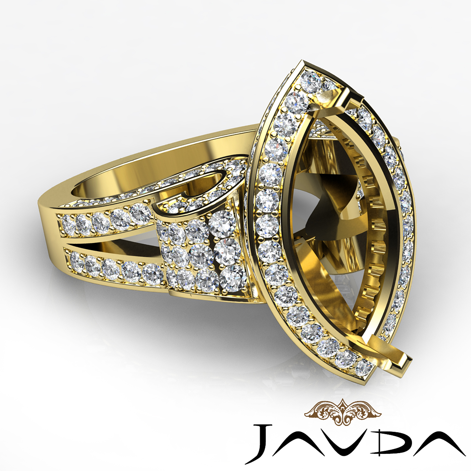 marquise engagement antique style ring 14k yellow