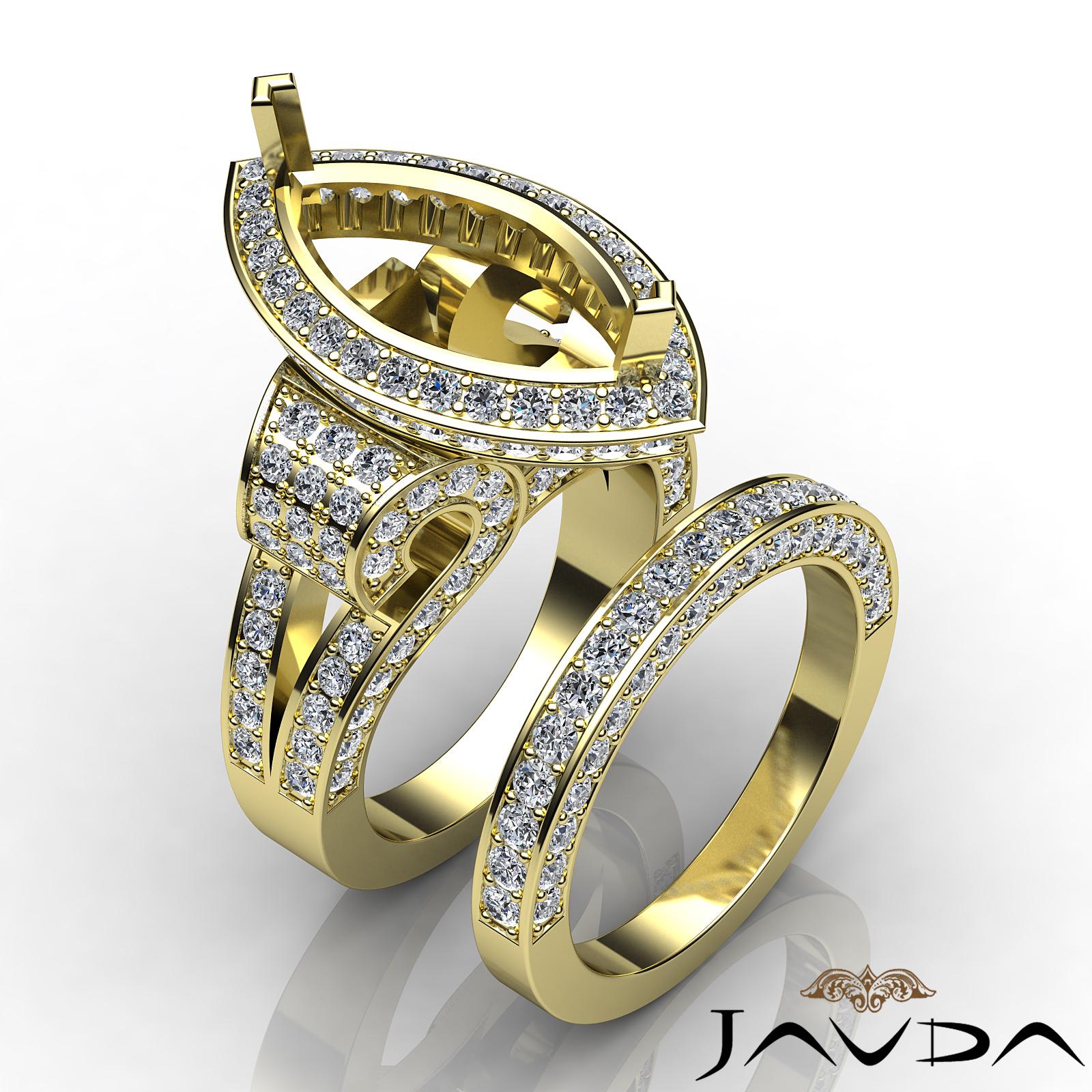 diamond engagement ring marquise semi mount unique bridal. Black Bedroom Furniture Sets. Home Design Ideas