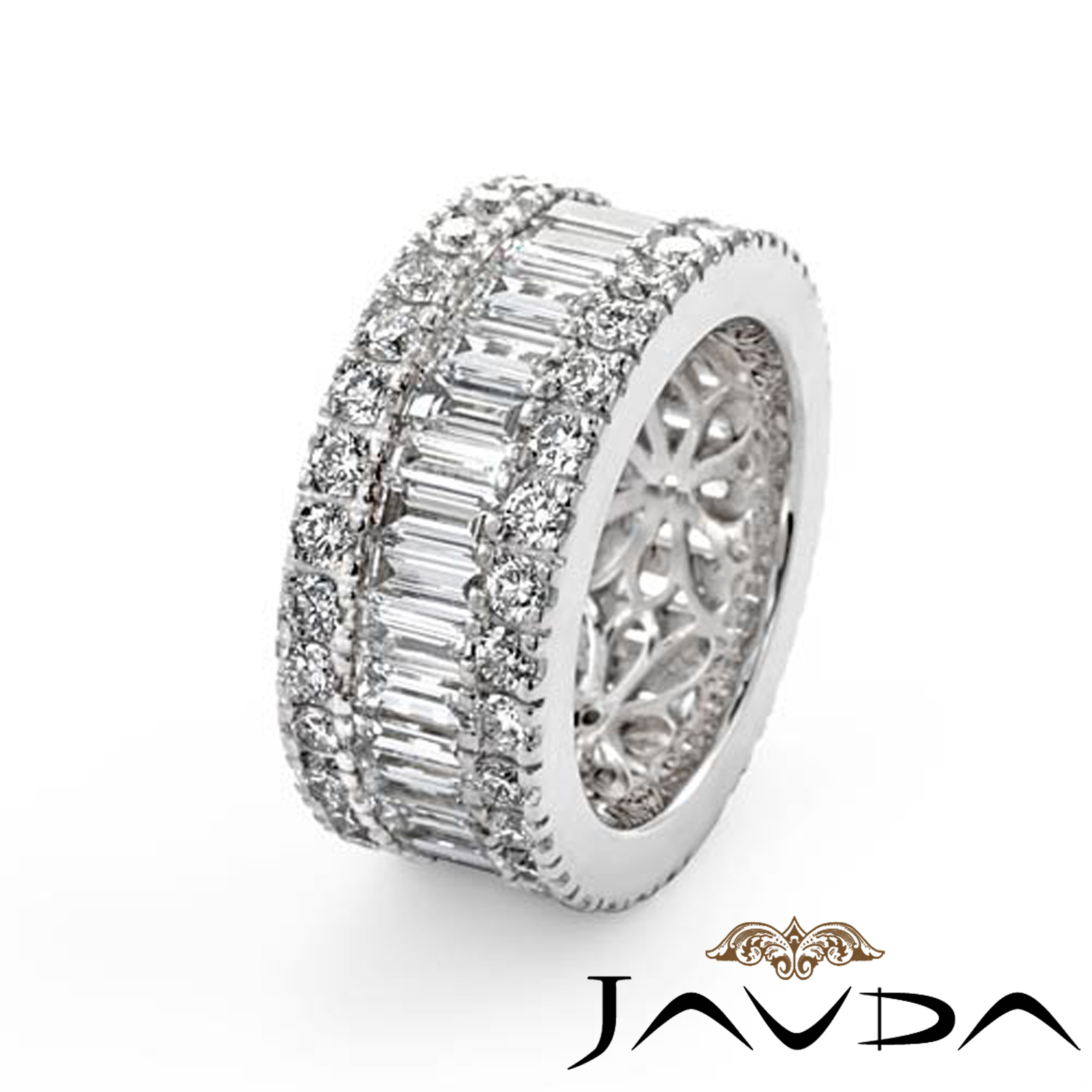 band previous next anniversary diamond ctw wedding product baguette ring eternity bands platinum