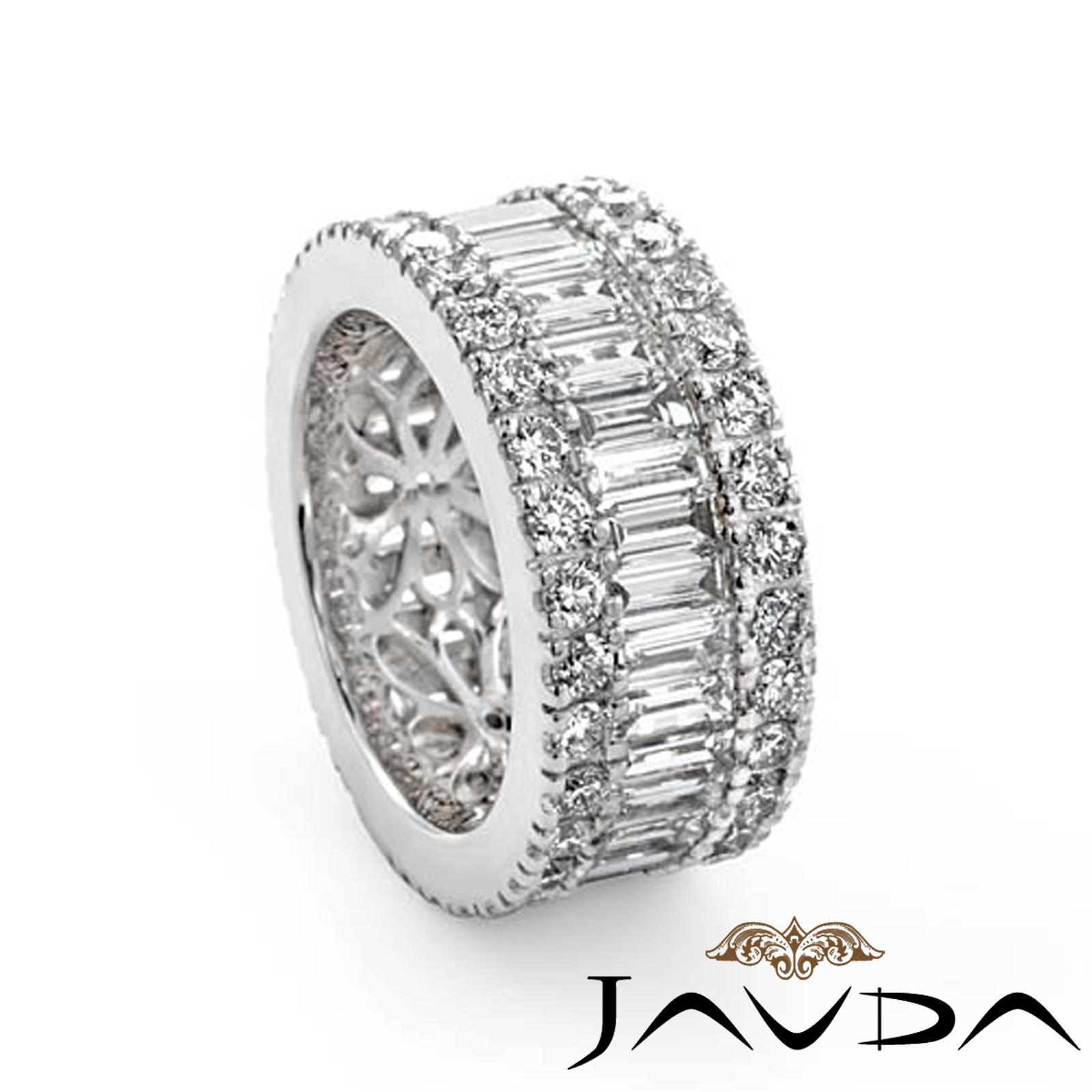 Women S Wedding Ring Baguette Round Diamond Eternity Band