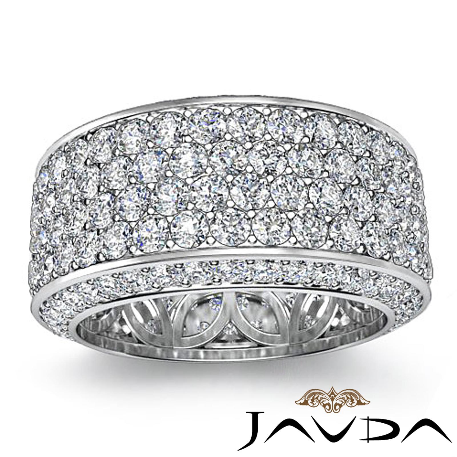 Womens eternity diamond mm wedding anniversary band ring