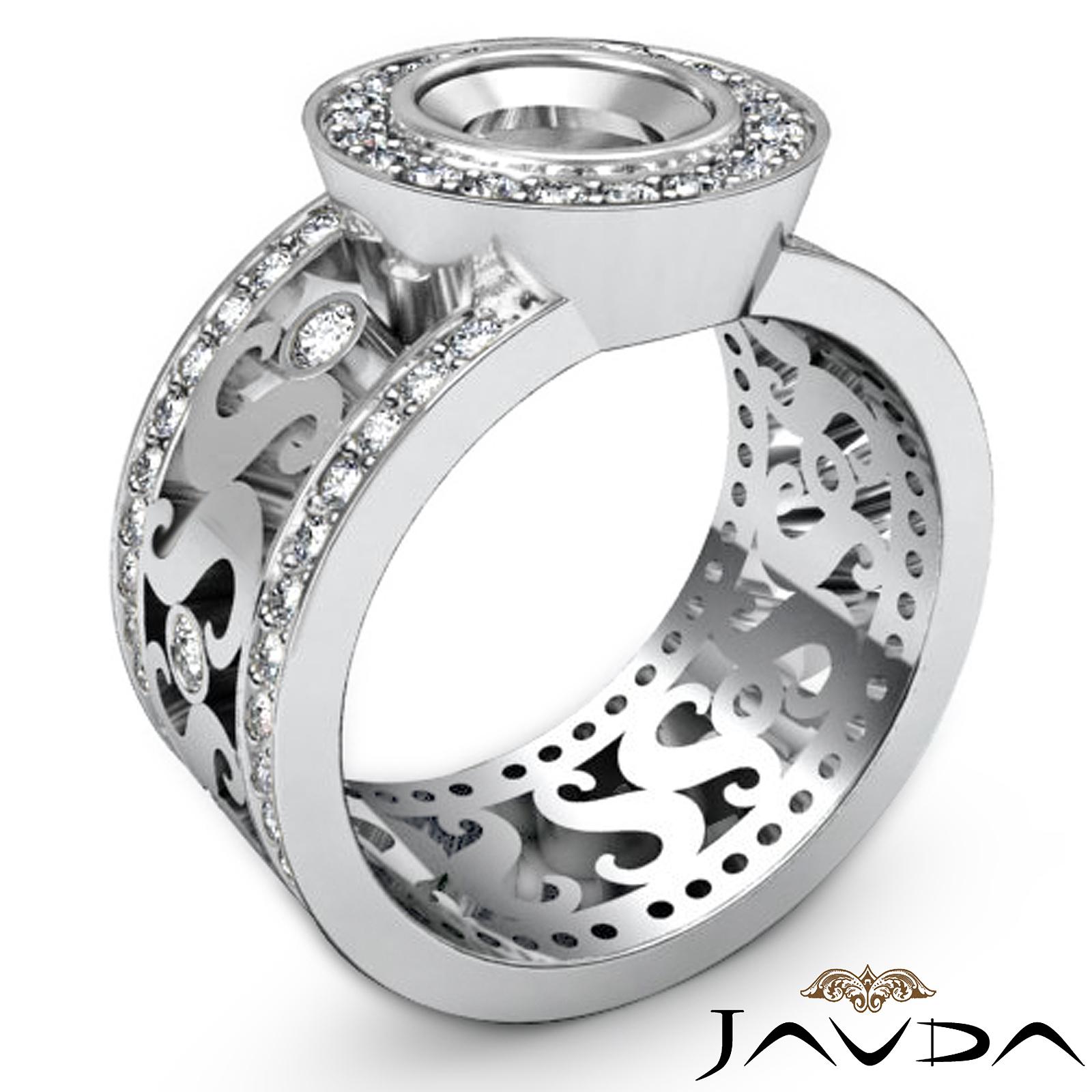 diamond antique engagement halo setting ring oval semi. Black Bedroom Furniture Sets. Home Design Ideas