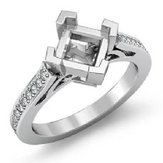 0.5CT Kite Shape Princess Semi Mount Diamond Engagement Ring Setting 14K Wh Gold