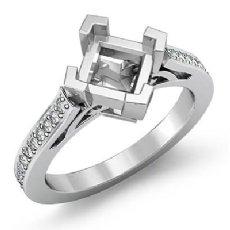 0.5CT Kite Shape Princess Semi Mount Diamond Engagement Ring Setting 14K Wh Gold