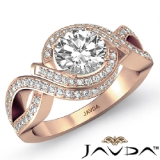 Round diamond  Ring in 14k Rose Gold