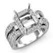 1.7Ct Diamond Engagement Ring 14k White Gold Radiant Semi Mount Halo Pave Settin - javda.com