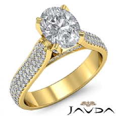 Oval diamond  Ring in 14k Gold Yellow