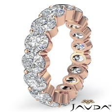Oval Diamond Eternity Women's Wedding Band Engagemet Ring 14k Rose Gold  (4.15Ct. tw.)