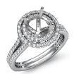 1.55Ct Round Shape Diamond Engagement Ring SemiMount Halo Setting 14k White Gold - javda.com