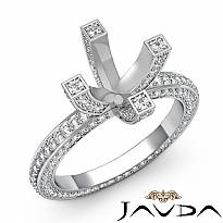 1.9Ct Diamond Eternity Style Engagement Setting Ring 14k W Gold Round Semi Mount