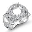 1.8Ct Diamond Engagement Ring Halo Setting 14k White Gold Cushion Semi Mount - javda.com