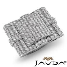 Hip Hop Style 3.50Ct Cluster Diamond Mens Ring Heart Filigree in 14K White Gold
