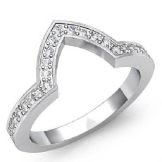 Pave Diamond Wedding Band Matching Set Platinum 950 (0.5Ct. tw.)