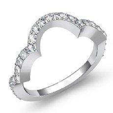 0.50 CT Round Pave Diamond Wedding Band 14k WHite Gold