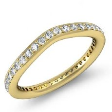 Pave Set Women's Diamond Wedding Band 18k Gold Yellow (0.55Ct. tw.)