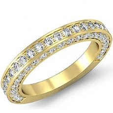 1.25ct Round Diamond Wedding Band Matching Set  18k Gold Yellow (1.25Ct. tw.)