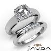 U Prong Diamond Engagement SemiMount Ring Round Bridal Set 14k White Gold 0.4Ct - javda.com