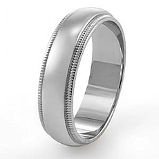 14k Solid White Gold Wedding Band Ring Comfort Fit 4.5 mm