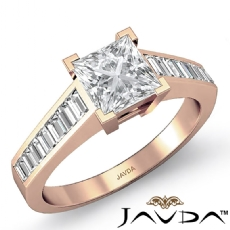 Princess diamond  Ring in 18k Rose Gold