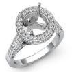 1.3Ct Diamond Engagement Round Ring 14k White Gold Halo Pave Setting Semi Mount - javda.com