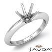 <Gram> Round Diamond 6 Prong Engagement Solitaire Ring Semi Mount 14k White Gold Setting - javda.com