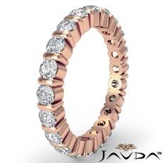 Round Diamond Bar Set Eternity Ring Women's Wedding Band 14k Rose Gold  (1.5Ct. tw.)