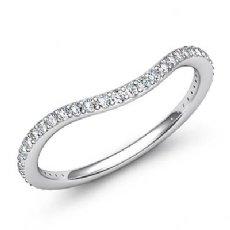 0.50Ct Pave Diamond Wedding Band Matching Set 14k White Gold