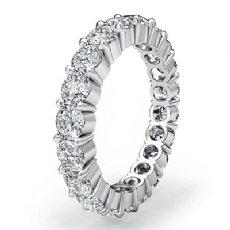 Women's Eternity Wedding Band 14k White Gold Shared Prong Diamond Ring 2Ct