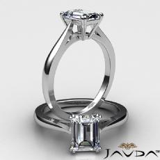 Basket Set Solitaire diamond Ring 14k Gold White