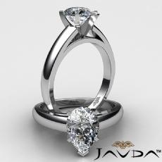 Pear diamond  Ring in 14k Gold White