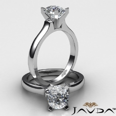 Dome 4 Prong Solitaire diamond Ring 14k Gold White