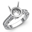 0.25Ct Round Diamond Vintage Style Engagement Setting Ring 14k White Gold Semi Mount - javda.com