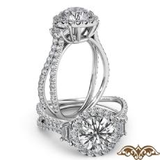 Round diamond  Ring in 14k Gold White