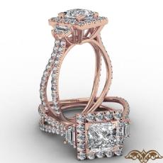 Princess diamond  Ring in 14k Rose Gold
