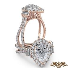 Pear diamond  Ring in 14k Rose Gold