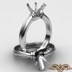 <Gram> Diamond Ridged Solitaire Engagement Ring Setting 14k White Gold Semi Mount 2.6mm - javda.com