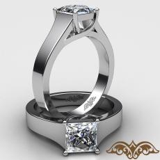 4 Prong Trellis Solitaire diamond Ring 14k Gold White